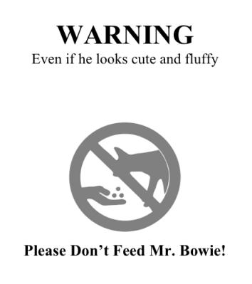 Warning small
